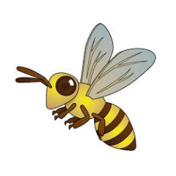 イラストポップ | 昆虫-蜂のイラスト無料素材