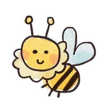 ミツバチのイラスト(虫): ゆるかわいい無料イラスト素材集