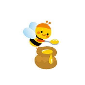 かわいいミツバチのイラスト-無料イラストフリー素材