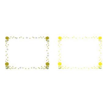 菜の花と蜂・蝶の季節の飾り枠-春のフレーム-無料ビジネスイラスト素材のビジソザ