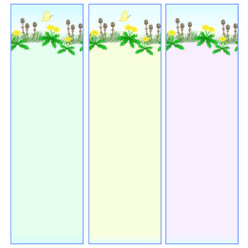 春、菜の花・つくし・ツクシ・たんぽぽ・蝶々の素材~背景・イラスト・アイコン~HPフリー素材