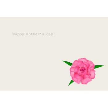 母の日メッセージカードの無料イラスト素材|イラストイメージ