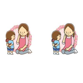母の日のイラスト   子供と動物のイラスト屋さん わたなべふみ