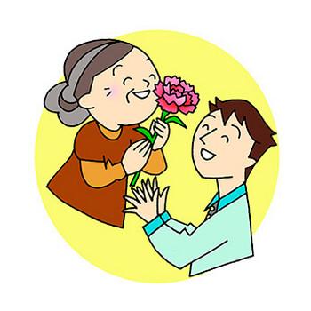 介護現場で使えるフリーイラスト集・母の日【MY介護の広場】
