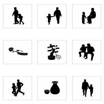 父の日|シルエット イラストの無料ダウンロードサイト「シルエットAC」