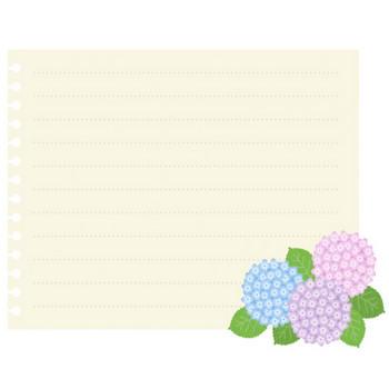 紫陽花(あじさい)のフレーム飾り枠・背景イラスト無料素材