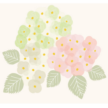 大人の紫陽花(アジサイ・あじさい)の花 イラスト【梅雨】 | 商用フリー(無料)のイラスト素材なら「イラストマンション」