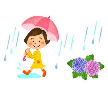 梅雨 | フリーイラスト素材 イラストリウム