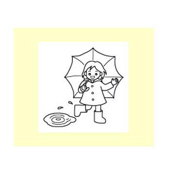 梅雨)1/夏の季節・行事/無料イラスト【みさきのイラスト素材】