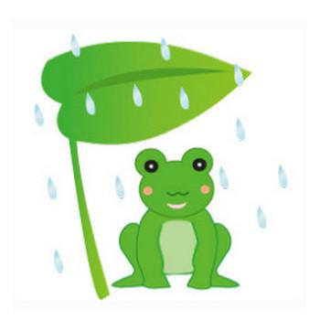 梅雨のかえるのイラスト | イラスト素材パラダイス 商用利用無料のイラスト素材