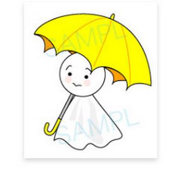 てるてるぼうずのイラスト : 梅雨素材イラスト集