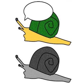 カタツムリのイラスト|フリーイラスト素材 変な絵.net