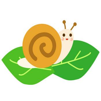 [無料イラスト] 葉っぱの上のカタツムリ - パブリックドメインQ:著作権フリー画像素材集