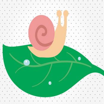 葉っぱの上のカタツムリ – クリスマス・ハロウィン、お正月イラストEVENTs Design