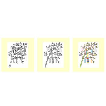 七夕1/夏の季節・行事/無料イラスト【みさきのイラスト素材】