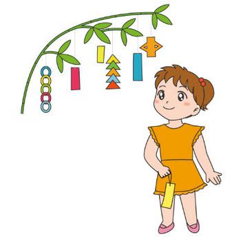 幼稚園児のイラスト・絵カード:七夕 - livedoor Blog(ブログ)