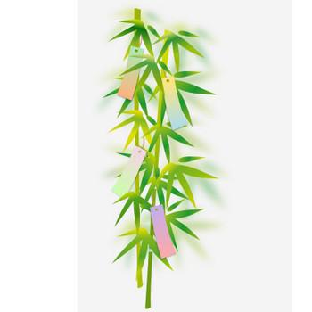 七夕の笹の葉と短冊のイラスト | 無料イラスト作成ソフトInkscape(インクスケープ)の作品集