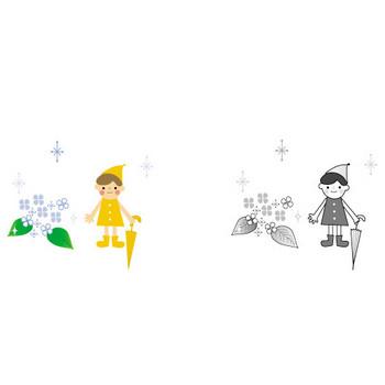 梅雨(雨・傘)のイラスト・無料・フリー素材