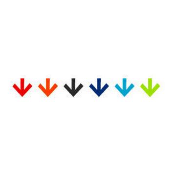 下向き 矢印のアイコン - ホームページ制作素材