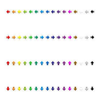 16ピクセルアイコン - 切断矢印 - フリー素材