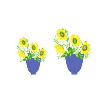 花のイラスト素材 / ひまわり 無料イラスト素材