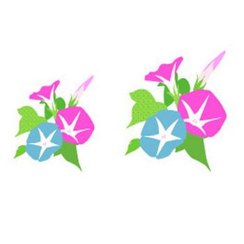 花のイラスト素材 / 朝顔 無料イラスト素材