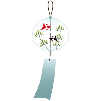 風鈴にかわいい金魚が描かれているイラスト - 無料イラストのIMT 商用OK、加工OK