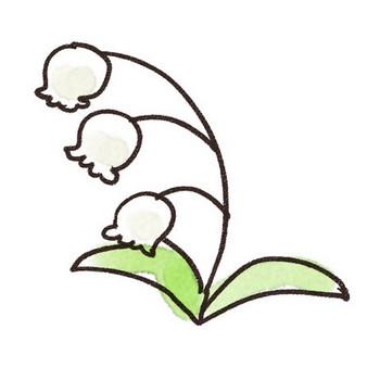 すずらんのイラスト(花): ゆるかわいい無料イラスト素材集