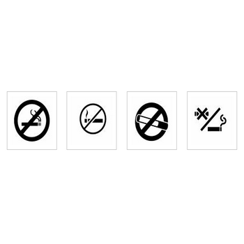 禁煙|シルエット イラストの無料ダウンロードサイト「シルエットAC」