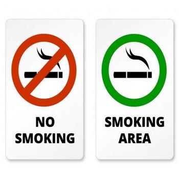 喫煙と禁煙区域の兆候 ベクター画像 | 無料ダウンロード