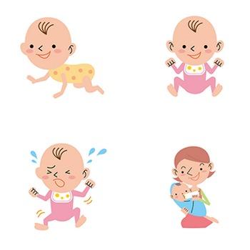 【商用無料】赤ちゃん・乳児のフリーイラスト素材