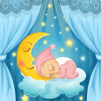 眠っている赤ちゃんのイラスト ベクター画像 | 無料ダウンロード