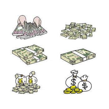 お金お札円ドル紙幣硬貨 フリー素材のイラスト画像集めて
