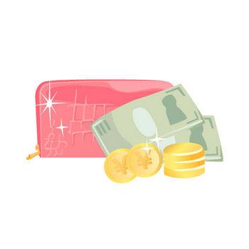 財布とお札、お金 | ガーリー素材--商用利用も可能なベクターイラスト配布サイト--