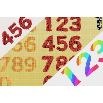 数字イラスト - 手描き風の可愛い1〜9・0の無料素材 - チコデザ