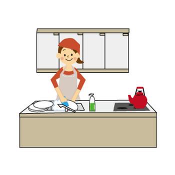 家事のイラスト(無料イラスト)フリー素材