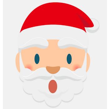 クリスマス_サンタクロース_顔_びっくり | 商用OK!フリー素材集「ナイスなイラスト」
