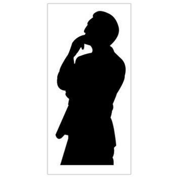 男性のシルエット(考えるポーズ) — POP・イラスト素材 無料ダウンロード