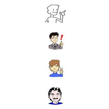男性のイラスト・アイコン 無料素材のSozai-Ryu