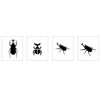 カブトムシ|シルエット イラストの無料ダウンロードサイト「シルエットAC」