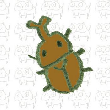 カブトムシのイラスト | ゆるくてかわいい無料イラスト素材屋「ぴよたそ」
