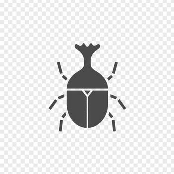 カブトムシのフリーアイコン1 | アイコン素材ダウンロードサイト「icooon-mono」 | 商用利用可能なアイコン素材が無料(フリー)ダウンロードできるサイト