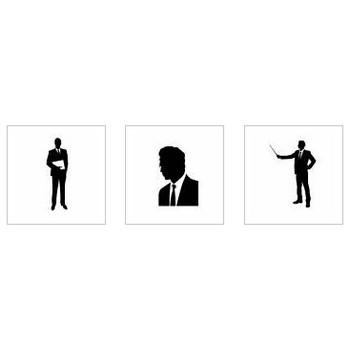 サラリーマン|シルエット イラストの無料ダウンロードサイト「シルエットAC」