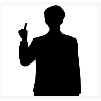 人物 ビジネスマン(シルエット)(モノクロ) – 無料で使えるイラスト素材・PowerPointテンプレート配布サイト【素材工場】