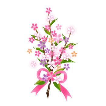 桜の花束/無料イラスト素材 - 花/素材/無料/イラスト/素材【花素材mayflower】モバイル/WEB/SNS