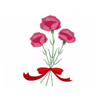 カーネーションの花束のイラスト素材 | イラスト無料・かわいいテンプレート