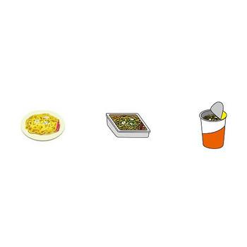 イラストポップ | ミニイラスト-麺類の無料クリップアート素材