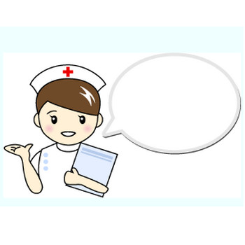 看護師(ナース)1の無料イラスト:素材屋花子