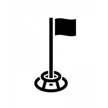 グラウンドゴルフのシルエット   無料のAi・PNG白黒シルエットイラスト