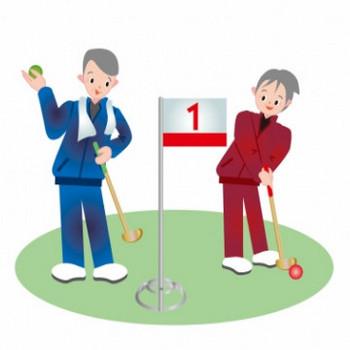 老人たちがグランドゴルフしているイラスト - 無料イラストのIMT 商用OK、加工OK